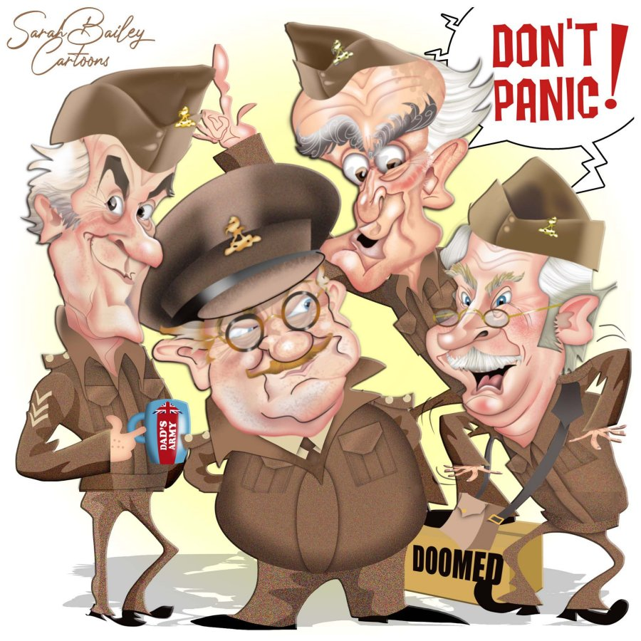 Dads Army by Sarah Bailey Cartoons