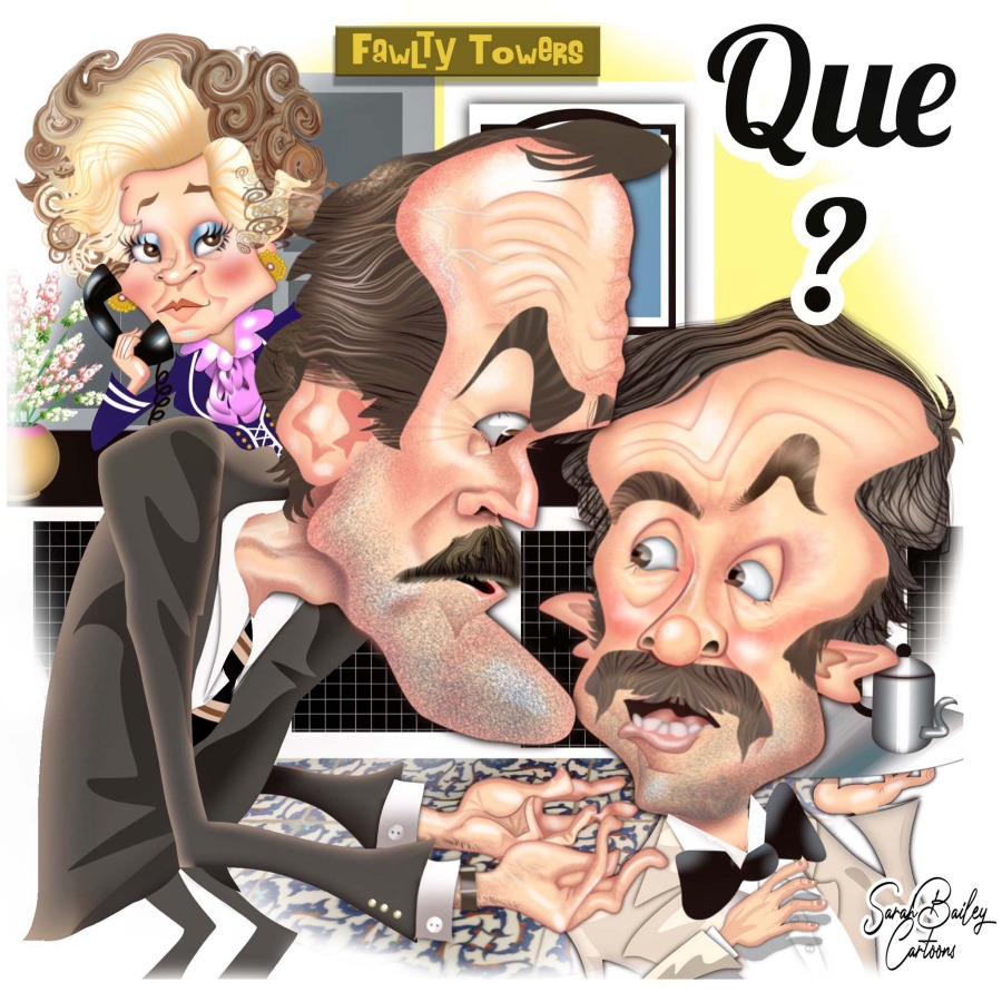 Faulty Towers by Sarah Bailey Cartoons