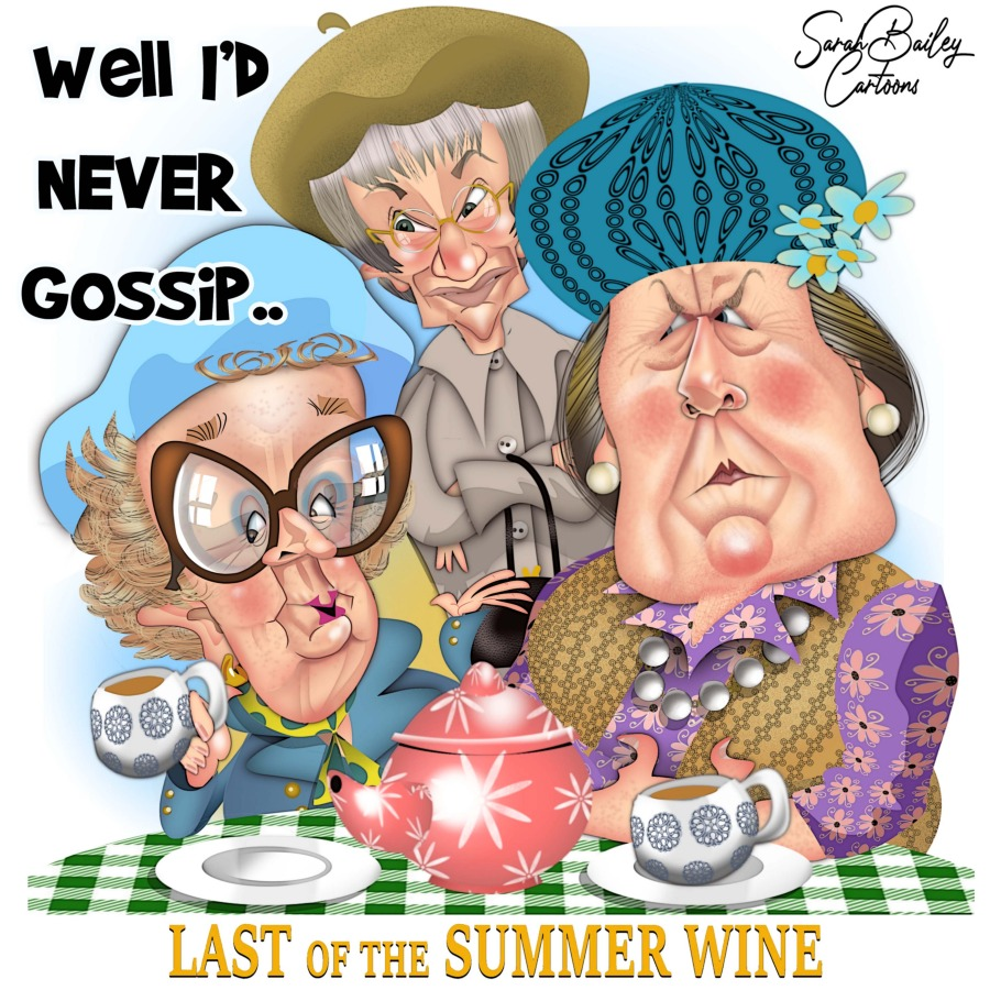 Last of the Summer Wine by Sarah Bailey Cartoons